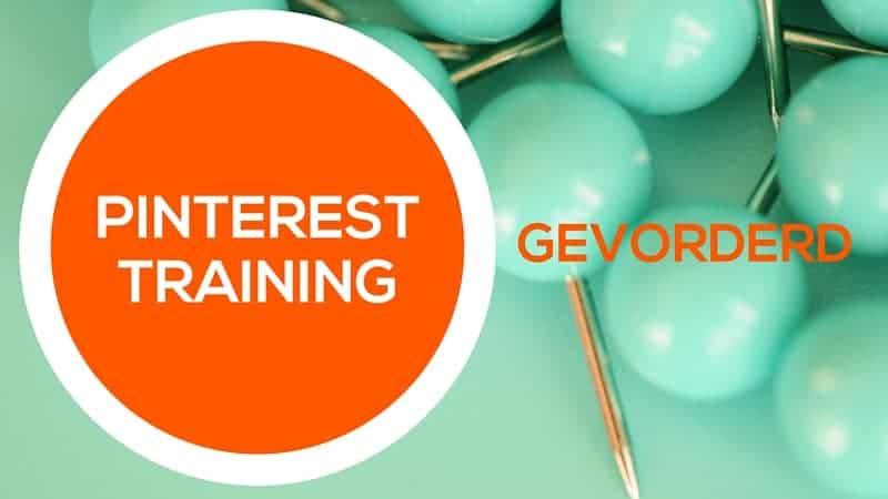 Pinterest training voor pinners met ervaring. Voor bedrijven en bloggers