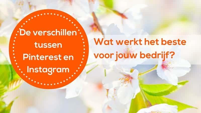 Wat zijn de verschillen tussen Pinterest en Instagram en wat werkt het beste voor jouw bedrijf. Ga voor Pinterest advies, account check en trainingen naar www.pinacademie.nl