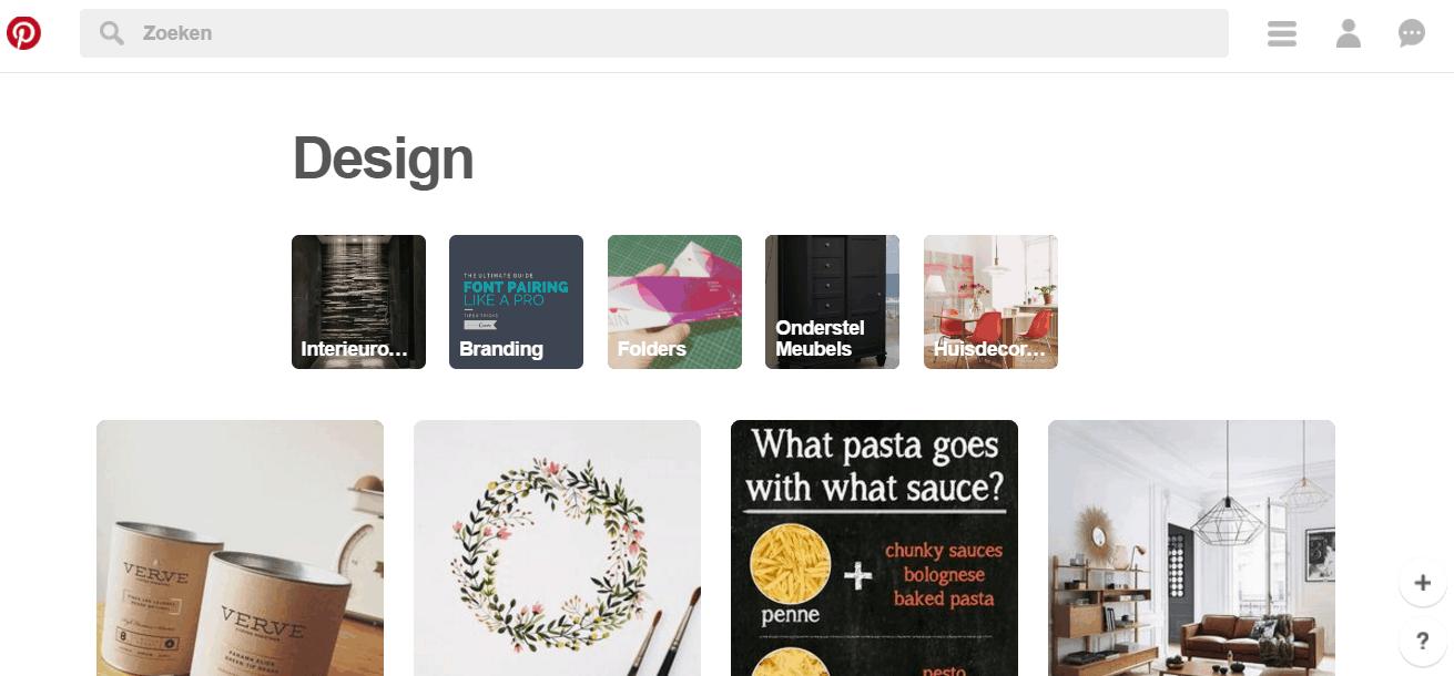 Hoe werkt Pinterest zoeken in onderwerpen