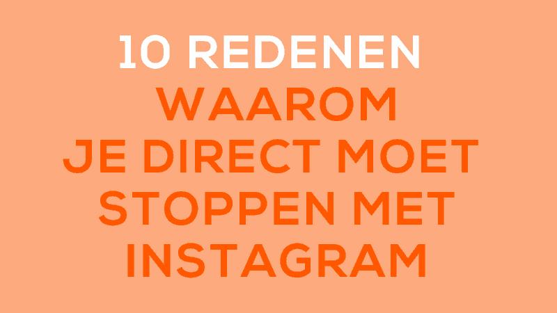 10 redenen waarom je moet stoppen met instagram. Omdat Pinterest veel beter werkt.
